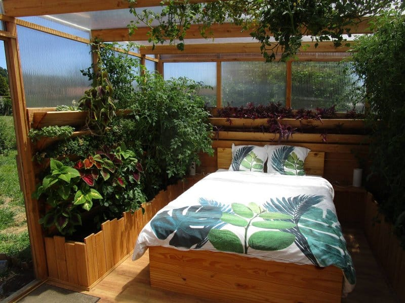 Article hébergement insolite, Guest & Strategy, dormir dans une serre