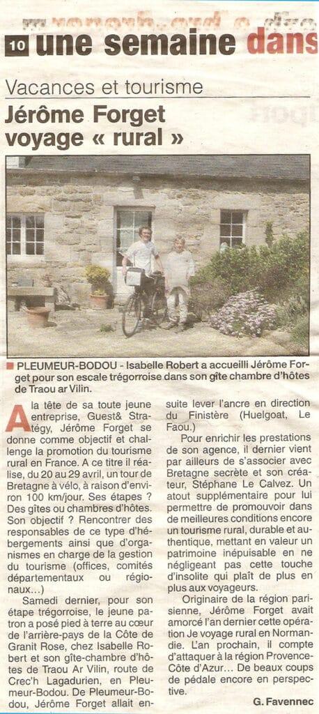 Je voyage rural concept Jérôme Forget Guest & Strategy - prémice RSE