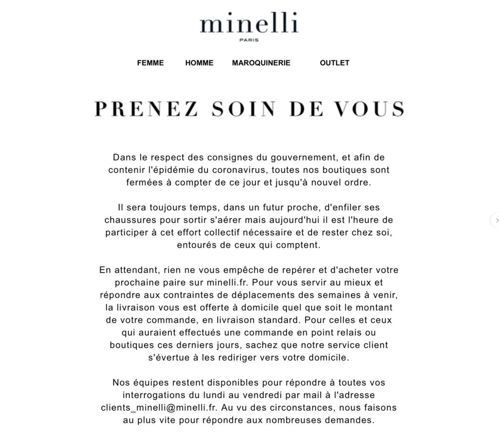 Minelli, Newsletter Covid19